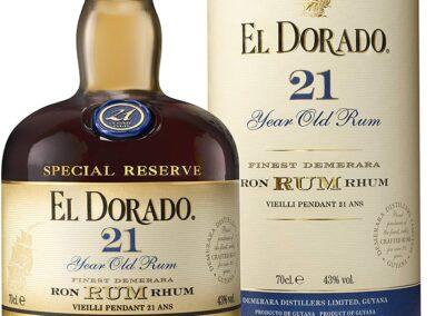 I migliori Rum - El Dorado 21 anni - Rum prestigiosi - Tipologie Rum El Dorado 21 anni