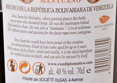 I migliori Rum - Diplomatico Mantuano - Rum prestigiosi - Tipologie Rum Diplomatico Mantuano